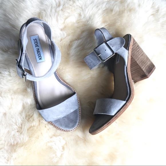 93c4ef1ecbc Steve Madden Castro Sandals block heel grey. M 5c0a0c172e14784ebc9690a8